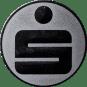 Emblem 50 mm Sparkasse, silber