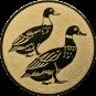 Emblem 50mm 2 Enten, gold