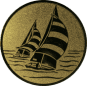 Emblem 50mm 2 Segelboote, gold