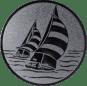 Emblem 50mm 2 Segelboote, silber