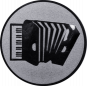 Emblem 50mm Akkordeon, silber