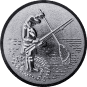 Emblem 50mm Angler m. Angel u. Kescher 3D, silber