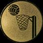 Emblem 50mm Basketball m. Korb, gold
