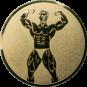 Emblem 50mm Bodybuilding männl., gold
