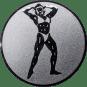 Emblem 50mm Bodybuilding weibl., silber