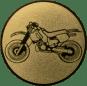 Emblem 50mm Motocross, gold