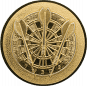 Emblem 50mm Dartscheibe 3D, gold