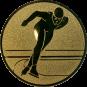 Emblem 50mm Eisschnelllauf, gold