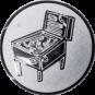 Emblem 50mm Flipper, silber