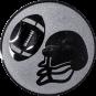 Emblem 50mm Football, silber