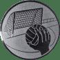 Emblem 50mm Handball mit Tor, silber