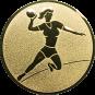 Emblem 50mm Handball Werferin, gold