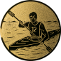 Emblem 50mm Kajakfahrer, gold