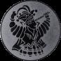 Emblem 50mm Karnevalsprinz, silber