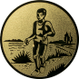 Emblem 50mm Laeufer am See, gold