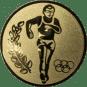 Emblem 50mm Laeufer Olympia, gold