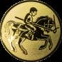 Emblem 50mm Lanzen-Reiter, gold