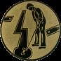 Emblem 50mm Minigolf männl., gold