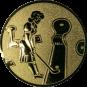 Emblem 50mm Minigolf weibl., gold