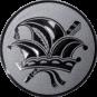 Emblem 50mm Narrenkappe, silber