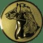 Emblem 50mm Pferd, gold