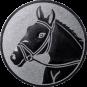 Emblem 50mm Pferdekopf, silber