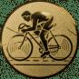 Emblem 50mm Rennrad, gold