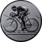 Emblem 50mm Rennrad, silber