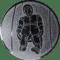 Emblem 50mm Rodeln, silber