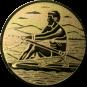 Emblem 50mm Ruderer, gold