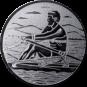 Emblem 50mm Ruderer, silber