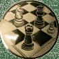 Emblem 50mm Schach, gold
