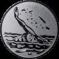 Emblem 50mm Schwimmer Rücken, silber
