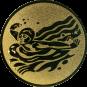 Emblem 50mm Schwimmer Schmetterling, gold