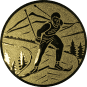 Emblem 50mm Ski Langlauf, gold