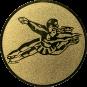 Emblem 50mm Tänzer Spagat, gold
