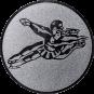 Emblem 50mm Tänzer Spagat, silber