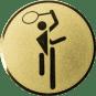 Emblem 50mm Tennis Symbol, gold