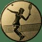 Emblem 50mm Tennisspielerin, gold
