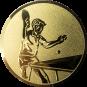 Emblem 50mm Tischtennisspieler, gold