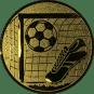 Emblem 50mm Tor, Fußball, Schuh, gold