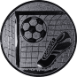 Emblem 50mm Tor, Fußball, Schuh, silber
