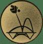 Emblem 50mm Trampolin, gold
