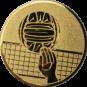 Emblem 50mm Volleyball mit Hand, gold
