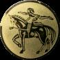 Emblem 50mm Voltigieren, gold