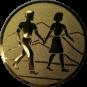 Emblem 50mm Wanderer Paar, gold