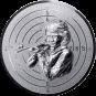 Emblem 50mm Zielsch. Schütze Gewehr 3D, silber schießen