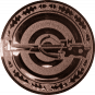 Emblem 25mm Zielsch. mit Armbrust, bronze schießen