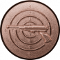 Emblem 50mm Zeilsch. Pistole 3D, bronze schießen