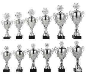 Sale: Pokale mit Henkel 12er Serie S741 silber
